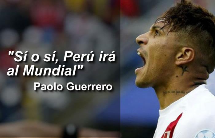 Selección Colombia: Paolo Guerrero intimida a la 'tricolor' con este mensaje