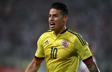 James Rodríguez y el tremendo gol que anotó contra Perú
