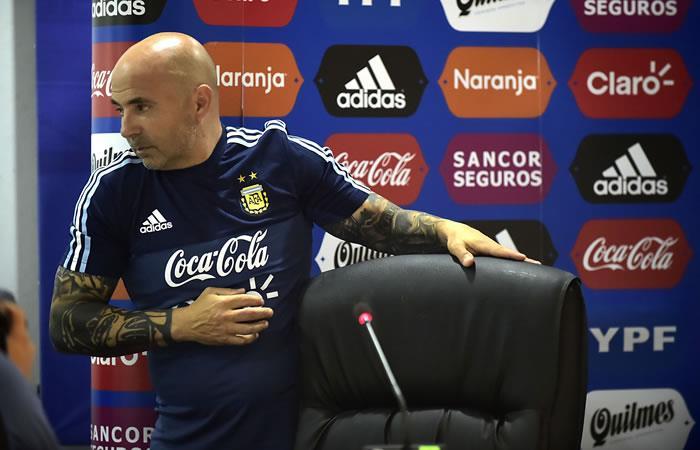 Jorge Sampaoli, entrenador del equipo nacional de fútbol argentino. Foto: AFP