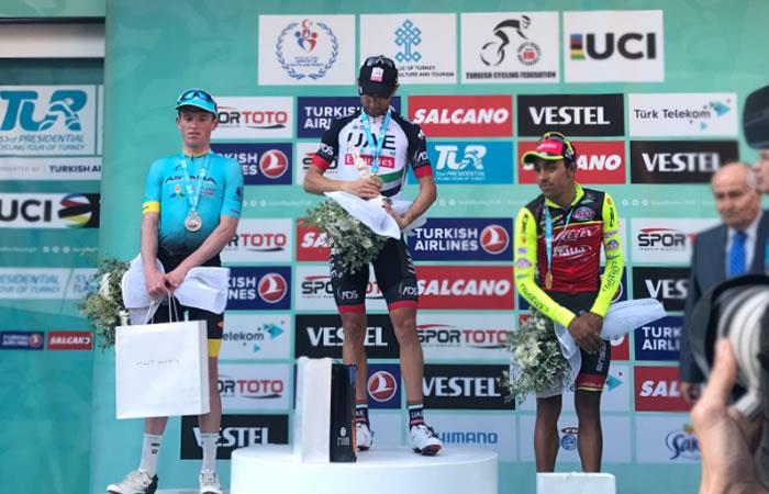 El colombiano Daniel Martínez en el top cinco delTour de Turquía