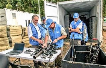 Gobierno recibió 69 toneladas de armamento de las Farc