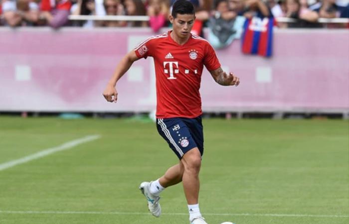James ya entrena con el nuevo DT del Bayern y así le ha ido
