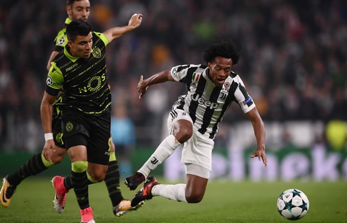 Juventus de Cuadrado sufrió pero le ganó al Sporting