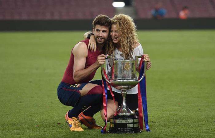 Shakira y Gerard Piqué. Foto. AFP