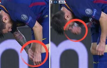 Messi se tomó una pastilla en pleno partido y generó polémica en todo el mundo
