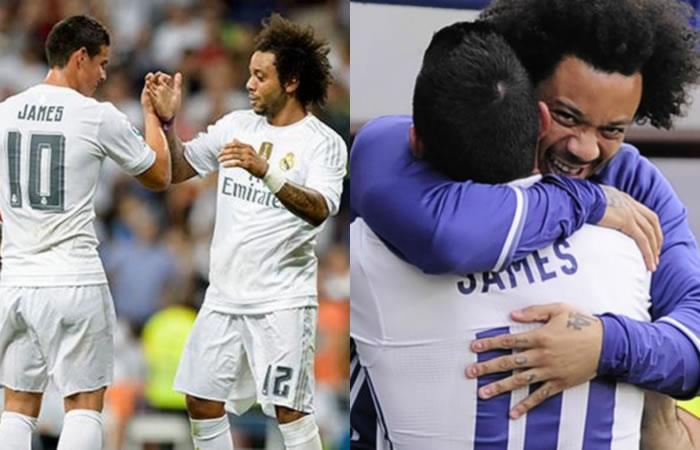 James Rodríguez no se olvida de su panita Marcelo del Real Madrid