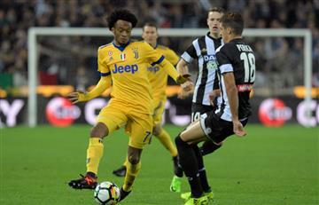 Juventus golea al Udinese con 79 minutos de juego de Cuadrado
