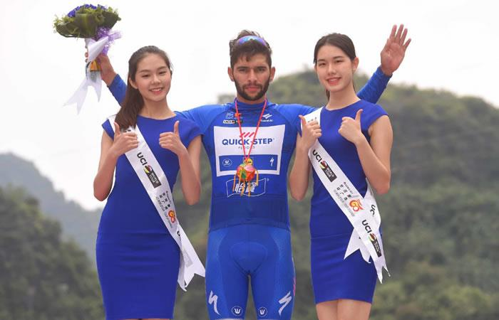 Fernando Gaviria segundo en la quinta etapa del Tour deGuangxi