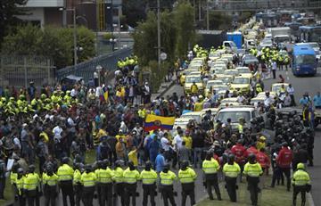 Galería: Así se vivió el paro de taxis en Bogotá