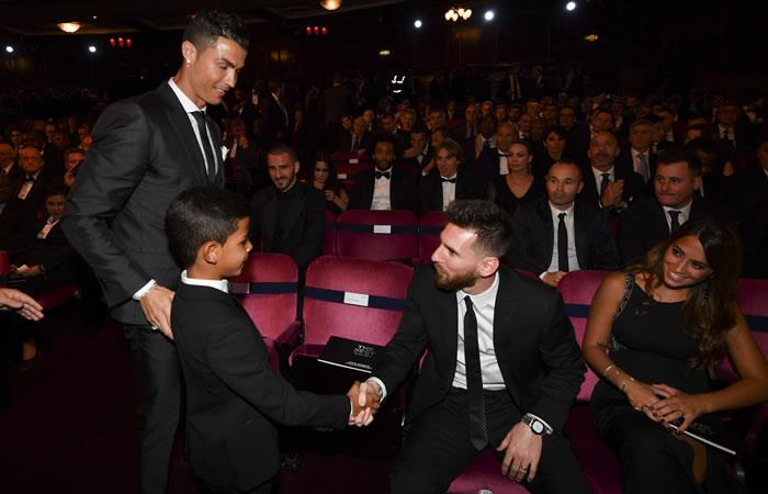 Leo Messi y CR7 votaron por sus amigos en el The Best. Foto. AFP