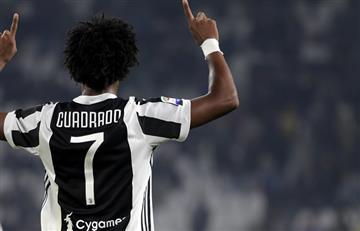 Juan Guillermo Cuadrado marcó nuevamente con la Juventus