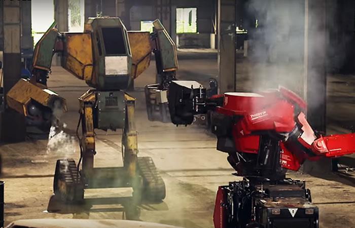 Video: Sorprendente red de un combate entre robots gigantes