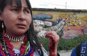 Video: Salvaje agresión a indígenas por la Policía de Bogotá