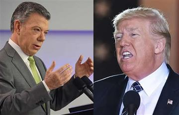 Trump pone un ultimátum a Santos por el tráfico de drogas