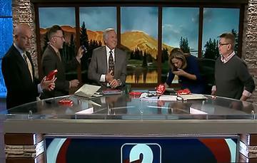 Video: Presentadora vomitó en pleno set por un reto que parecía inofensivo