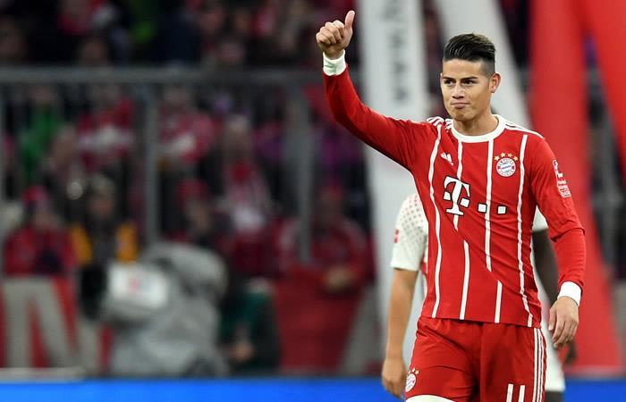 James Rodríguez se lució en la victoria del Bayern Múnich