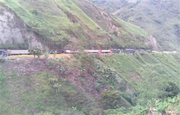 Campesinos bloquean la vía Ocaña-Cúcuta en el Catatumbo