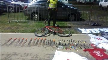 Policía incautó armas y machetes a hinchas del Cali