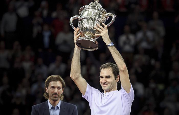 Roger Federer campeón del torneo de Basilea tras vencer a Del Potro en la final