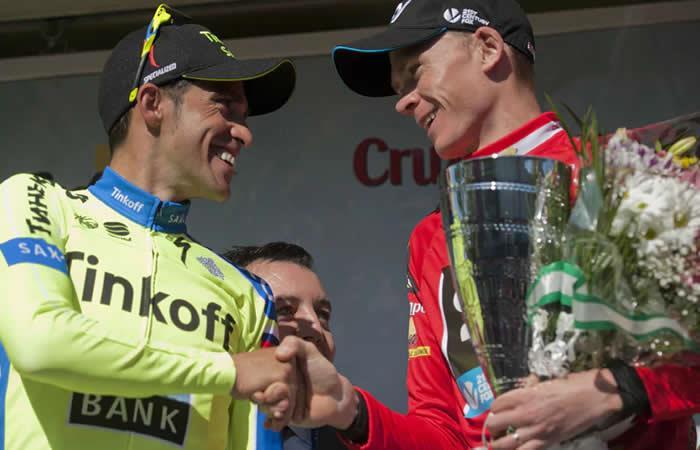 Froome despidió al gran Alberto Contador