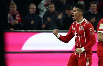 James Rodríguez titular con el Bayern en Champions League