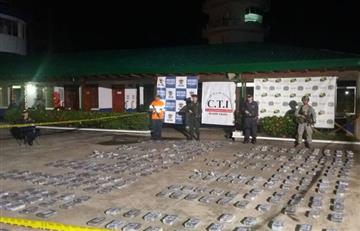 Armada intercepta buque portugués con 352 kilos de cocaína