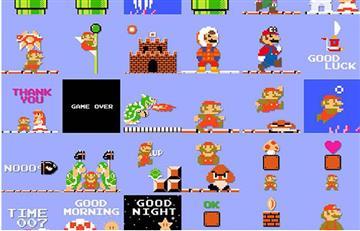 Nintendo lanza stickers de 8 Bits para iMessage
