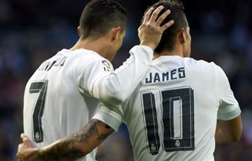 Cristiano Ronaldo extraña a James Rodríguez y lo menciona tras la derrota