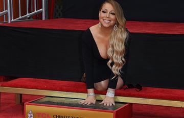 Homenaje: Mariah Carey deja sus huellas en Hollywood