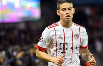James Rodríguez prepara el que sería su mejor partido con el Bayern Múnich