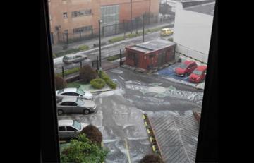 Granizada en Bogotá provoca inundaciones y caos en la movilidad
