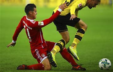 James Rodríguez asiste y colabora en victoria de Bayern