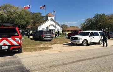 En vivo: Múltiples víctimas en tiroteo en iglesia en Texas