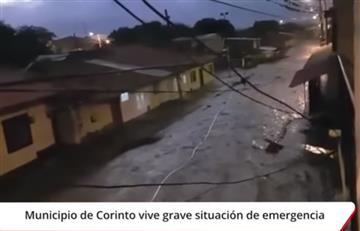Grave emergencia por desbordamiento del río Paila en Corinto, Cauca