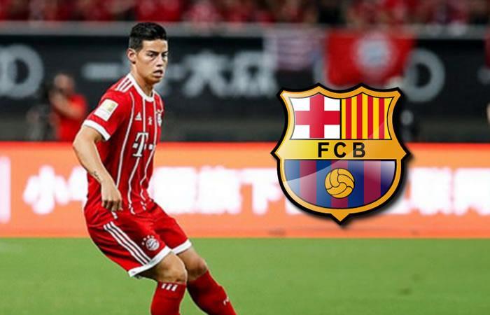 James Rodríguez pasaría del Bayern Múnich al Barcelona