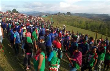 Indígenas levantan protesta que dejó decenas de heridos