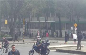Disturbios en la Universidad Pedagógica, al norte de Bogotá