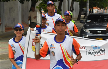 Juegos Bolivarianos: Llama Bolivariana llega a Santa Marta
