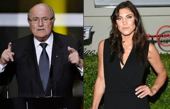 Joseph Blatter califica de 'ridícula y absurda' la acusación de la futbolista Hope Solo