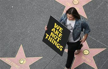 La marcha en Hollywood contra el abuso sexual