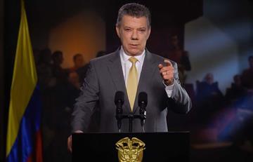 La paz de Colombia está en la 'cancha' del Congreso: Santos