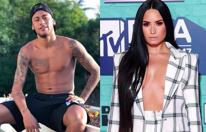 Neymar canta y baila al ritmo de Demi Lovato mientras esta se burla