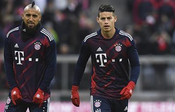 James fue titular en la victoria del Bayern