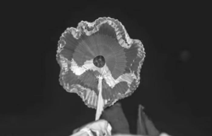 NASA: Así se probó el primer paracaídas supersónico