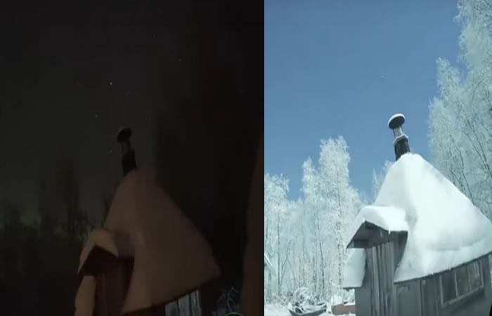 Video: Meteorito convierte la noche en día durante una aurora boreal