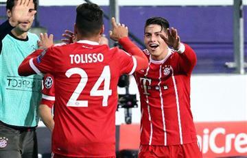 James Rodríguez y el Bayern Múnich ganaron en la Champions