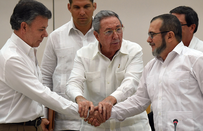 El acuerdo de paz fue firmado el 26 de septiembre de 2016. Foto. AFP