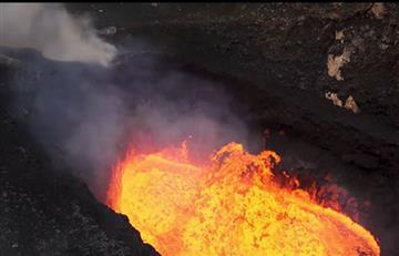 Impresionante imagen de la 'sonrisa' de un volcán activo en Etiopía