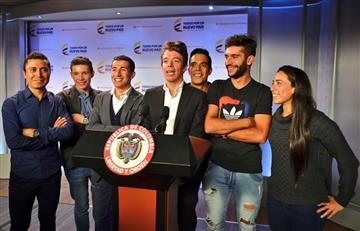 """Rigoberto Urán: """"Mijitos les presento mi equipo de trabajo"""""""