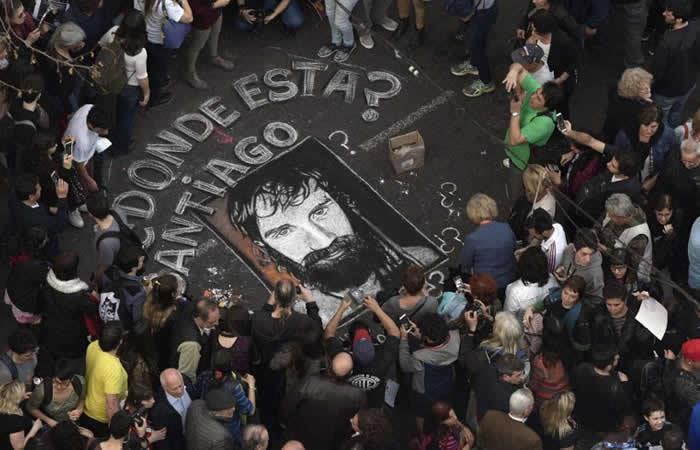Activista argentino Santiago Maldonado murió por ahogamiento